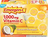 Alacer, Emergen C Coconut Pineapple, 0.32 Ounce, 30 Pack