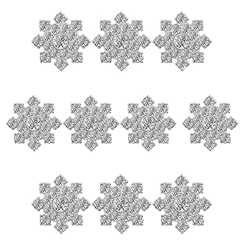 10pcs Botones Diamantes Imitación Botón Plana Brillantes Botón aleación Embellecer la decoración...