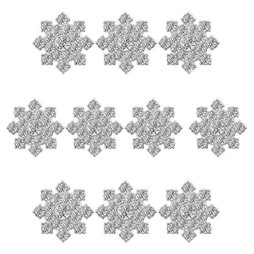 10pcs Botones Diamantes Imitación Botón Plana...