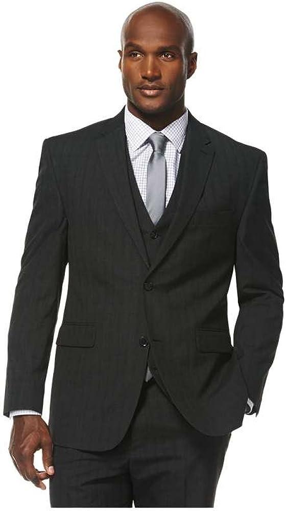 Savane Men's Tailored Subtle Plaid Suiting Jacket