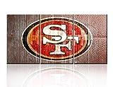 TUMOVO Bild auf Leinwand, Motiv American Football, 5 Stück Antik 48''W x 24''H Artwork-50-san Francisco 49ers
