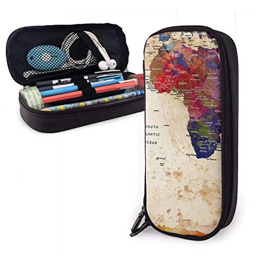 Schreibwaren Tasche Erwachsene/Kinder Briefpapierbeutel Pen Case Schüler Mäppchen Bunte Weltkarte Bleistift Aufbewahrungstasche Stifthalter Federmäppchen