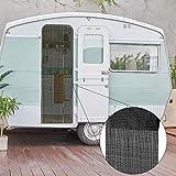 Bestlivings Cortina de hilos (56 x 185 cm) en negro, ideal para caravanas y autocaravanas como cortina para puerta