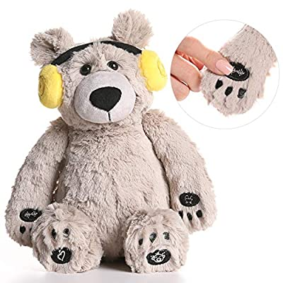 Lulla Bear Shusher by Alex & Kate - White Noise, Lullabies, and Mom's Heartbeat Sounds - Nursery Décor & Portable Stuffed Animal Bear with Baby Sleep Soothing Sounds for Toddler Crib to Comfort from Alex & Kate