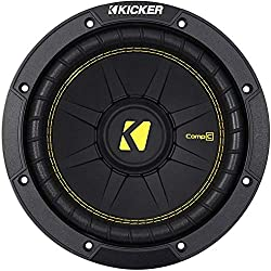 in budget affordable Kicker 44CWCD84CompC 8 inch, 4 ohm, 200 W RMS power, 400 W peak power, dual voice coil …