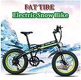 Bicicletas Eléctricas, De 26 pulgadas de nieve for adultos Bicicleta eléctrica for la playa y las montañas de 350W eléctrica plegable Bicicleta con pantalla LCD y 48V 10Ah batería extraíble ,Bicicleta