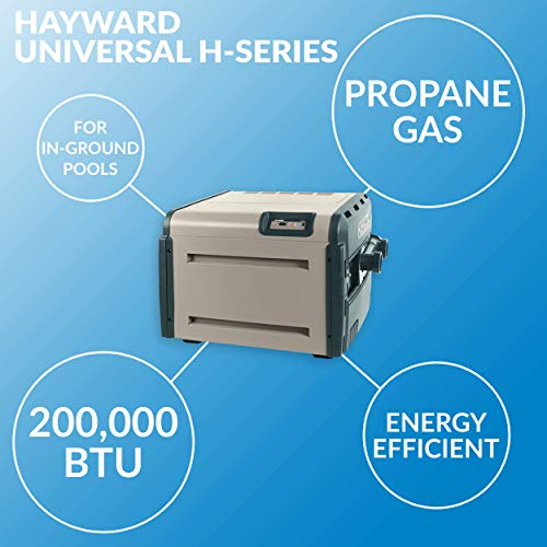 Hayward W3H200FDP Universal H-Series 200,000 BTU Pool and Spa Heater, Propane