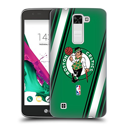 Head Case Designs Oficial NBA Stripes Boston Celtics Carcasa rígida Compatible con LG K7 K330 / Tribute 5