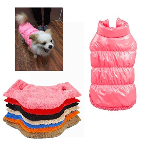 Rantow Autunno Inverno Cane di Cane da Compagnia, Caldo Cappotto, 7 Colori Pet Classico Outwear Giù Giacca per Teddy, Yorkshire Terrier, Chihuahua, Pomerania