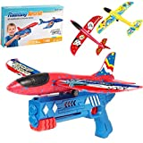 Bubble Catapult Plane for Kids, 2021 New Hot Toy Bubble Catapult Plane Toy, One-Click Ejection Model Foam Airplane,One-Click Ejection Model Foam Airplane with 3Pcs Glider Plane Launcher (Blue)