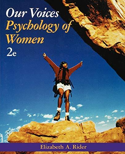 Our Voices Psychology Women 2e