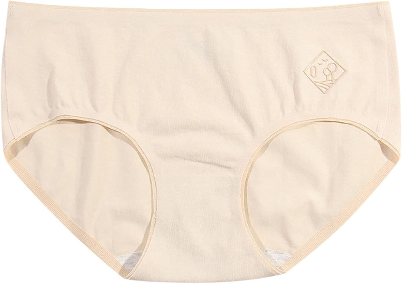 Women's Cotton Stretch Underwear Soft Mid High Waist Briefs Ladies Breathable Panties Briefs 5-Pack