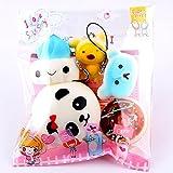 YUWEX Brotform Fidget-Toy Brot kuchen Donut Mochi Squeeze Spielzeug Brot Gefüllte Puppe Push-Pop...