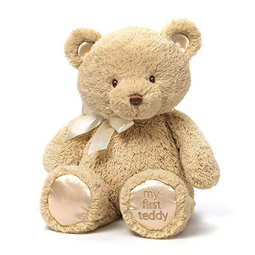 Baby GUND My 1st Teddy Bear Stuffed Animal Plush, Tan 15'
