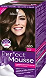 Schwarzkopf Perfect Mousse Permanente Schaumcoloration, 500 Mittelbraun Stufe 3, 3er Pack (3 x 93...