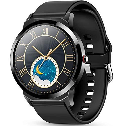 HJKPM Smartwatch, IP67 wasserdichte Multiple Sports Modes Full Touch Smart Uhr Mit Kalorien Temperatur Herzfrequenz Überwachung GPS Take Bilder 20 Funktionen,C