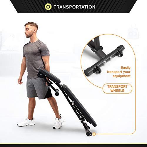 Circuit Fitness Adjustable Utility Weight Bench - Adjustable Six Position Mechanism AMZ-617BN