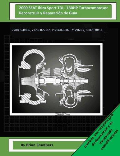 2000 SEAT Ibiza Sport TDI – 130HP Turbocompresor Reconstruir y Reparación de Guía: 720855-0006,…