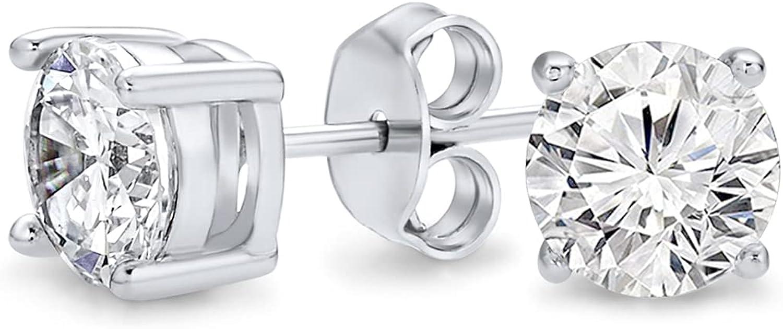 Natural Diamond IGI Certified 1 Max 80% OFF ct 10K 5-1 Direct stock discount Earrings Stud