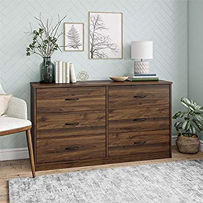 Classic 6 Drawer Dresser, (Walnut)