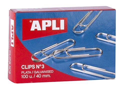 APLI 11715 - Clips galvanizados nº3 40 mm 100 u. ✅