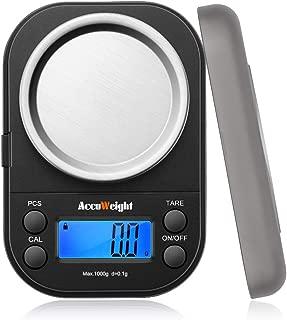 Accuweightデジタル 計量器 精密はかり携帯 電子はかり デジタルスケール 0.1g 1000g 業務用 計測AW255 1000g