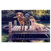 1000ピース ジグソーパズル 三匹の犬 ジグソーパズル 木製パズル Puzzles 50x75cm(6歳以上が適しています)