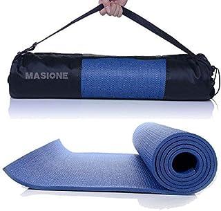 Masione Esterilla para NBR–Esterilla de Fitness Turn Suelo Esterilla para Yoga Pilates Deporte Fitness Gimnasia Entrenamiento Gimnasia Estiramiento Aerobic con Bolsa