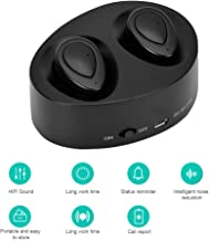 TWS-K2 Noise Cancelling Headphones Bluetooth Double Ear Stereo Wireless Waterproof Headset Earphone Headphone with Mic for Exercise, Running, Jogging and Fitness, Watching TV, or Sleeping. (Black)