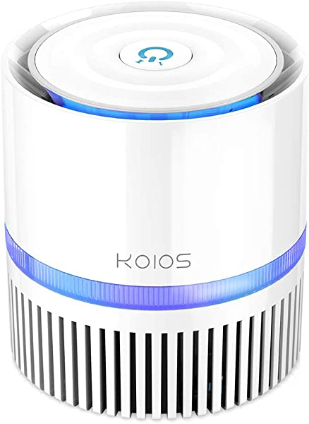 KOIOS Air Purifier Indoor Air Cleaner With 3 In 1 True HEPA Filter For Home And Office Odor Allergies Eliminator For Smoke Dust Pets 3 Stage Filtration Night Light 3 Year Warranty