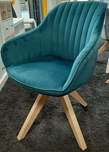 Gutmann Limited Sessel Chill Stoff Massivholz Natur Wohnzimmer Esszimmer (312/53 - Türkis)