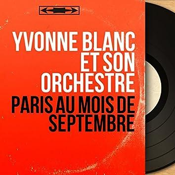Paris au mois de septembre (Mono Version)