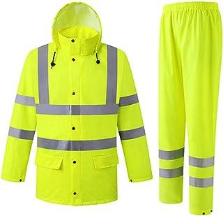 color negro y amarillo Racer 820 Chaqueta fluorescente para lluvia