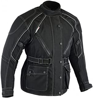 Bikers Gear Australia Ladies Waterproof Textile Jazz Jacket with Removable Liner and CE Armour Black