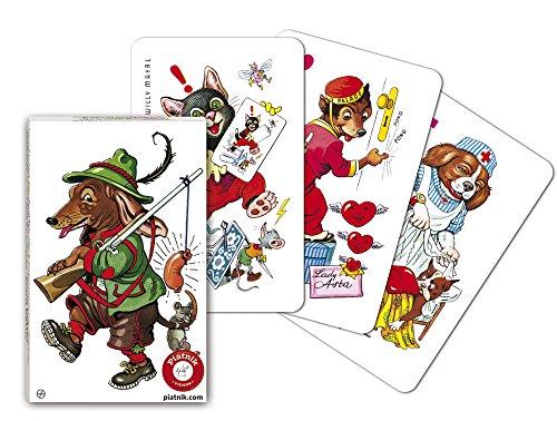 Piatnik 4271 - Kartenspiel Schwarzer Peter - Hundebilder