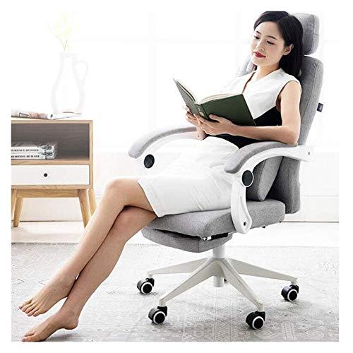 Grande y alto reclinable silla de oficina - Silla de escritorio de Metales Comunes respaldo alto ordenador Ejecutivo con ajustable soporte lumbar, sistema de bloqueo ángulo de reclinación y el reposap
