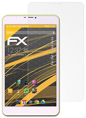 atFolix Panzerfolie kompatibel mit Cat So& Helix Schutzfolie, entspiegelnde & stoßdämpfende FX Folie (2X)
