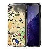 Berkin Arts Joan Miro para el Caso del iPhone XR/Estuche para teléfono móvil de Bellas Artes/Impresión Giclee UV en la Cubierta del teléfono móvil(costellazioni 2)