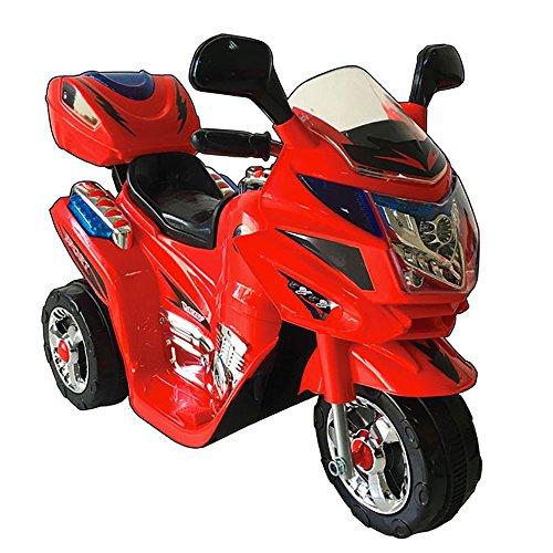 kidfun Moto Elettrica per Bambini 6V Rossa