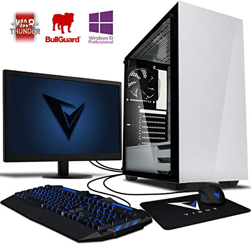 Vibox Kaleidos SA4-50 Gaming-PC Computer mit 2 Gratis-Spielen, Windows 10 Pro OS, 22 Zoll HD Monitor (3,8GHz AMD A6 Dual-Core Prozessor, Radeon R5 Grafik Chip, 16Go DDR4 RAM, 120GB SSD, 2TB HDD)