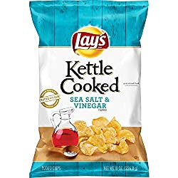 Lay's Kettle Cooked Sea Salt & Vinegar Flavored Potato Chips, 8 Ounce