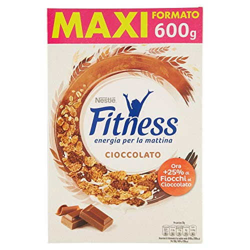 Fitness Cioccolato Cereali con Frumento e Fiocchi Ricoperti di Cioccolato al Latte 600g