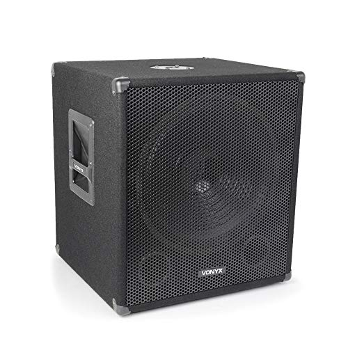 Vonyx 15' Powered Active Subwoofer Bass Boost Bin DJ Disco PA Sub Speaker...