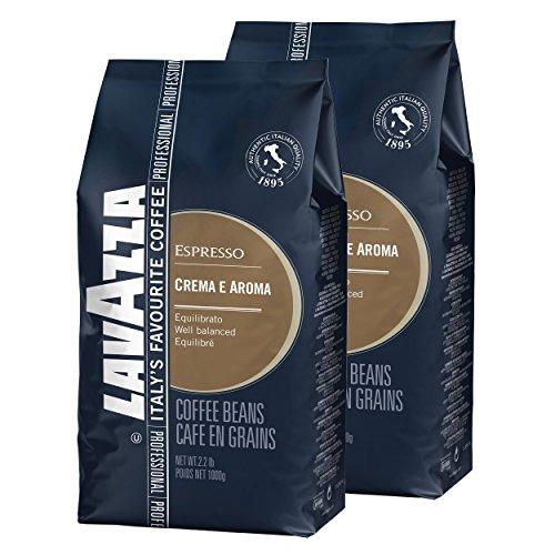 Lavazza Kaffee Creme e Aroma Blau, Espresso, Bohnenkaffee, Röstkaffee, Ganze Bohnen, 2 x 1000g