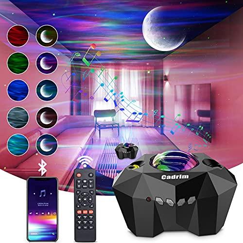 Cadrim Aurora Star Light Projector with Moon, LED Laser Night Starry Light Built-in Bluetooth...