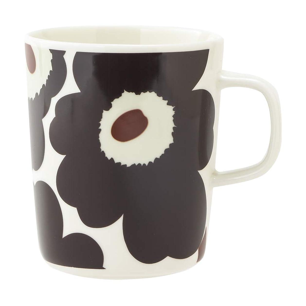 樹皮被害者合理化マリメッコ マグカップ ウニッコ Oiva/Unico Mug (カラー:dark brown, brown, beige) Marimekko [並行輸入品]