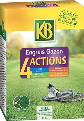 KB Engrais Gazon 4 Actions, 3,5kg
