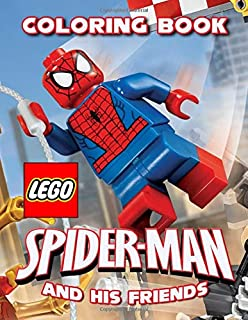 Lego Spider-Man And His Friends Coloring Book: Exclusive Coloring Pages For Kids, Ages 3-8