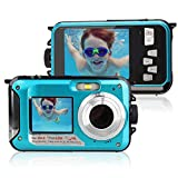 Underwater Shockproof Digital 24MP Camera Camcorder Double Screens Dual Full-Color LCD Displays FHD