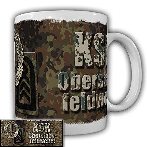 Tasse KSK Oberstabsfeldwebel der Kommando Spezialkräfte Bundeswehr Dienstgradabzeichen Alfashirt Kaffebecher #20925